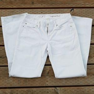 Loft white corduroy boot cut jeans